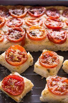 Fingerfood Focaccia mit Tomaten: einfaches Rezept