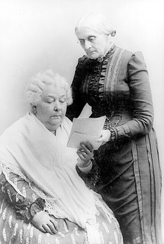 "Did You Know A Woman's Right To Vote Was Sparked By Two Brave Women On July 4, 1876? --- In honor of the 4th of July... Elizabeth Cady Stanton's and Susan B. Anthony's friendship and collaboration became a conduit for both women and equality. ""Our speeches may be considered the united product of our two brains,"" Stanton said. American women are forever in debt to those ""two brains."""