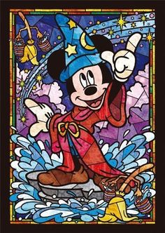 Tenyo Stained Art 266 piece Disney Mickey Mouse Stained Glass from Japan shopping service. Disney Pixar, Walt Disney, Disney Micky Maus, Disney Magic, Disney Art, Disney Characters, Fantasia Disney, Disney Mignon, Disney Stained Glass