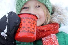 Enamel mug by Finel, dec Kehrä, designer Raija Uosikkinen Finland