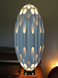 Rougier inspired Lamp This style of light was inspired by LampMod Pvc Pipe Crafts, Pvc Pipe Projects, Diy And Crafts, Pipe Lighting, Lighting Design, Antique Chandelier, Wood Lamps, Custom Woodworking, Elegant Homes