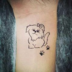 maltese dog tattoo pet on jessica done in black and grey tam 39 s pinterest dog tattoos. Black Bedroom Furniture Sets. Home Design Ideas