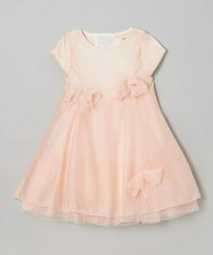 Love this Blush Pink Bows Swing Dress - Toddler & Girls by Funkyberry on #zulily! #zulilyfinds