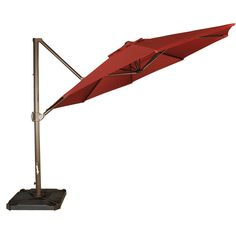 Shop for Abba Patio Offset Cantilever Umbrella Outdoor Patio Hanging Umbrella with Cross Base, Red. Get free delivery On EVERYTHING* Overstock - Your Online Garden & Patio Shop! Get in rewards with Club O! Patio Umbrella Stand, Offset Patio Umbrella, Cantilever Umbrella, Market Umbrella, Patio Umbrellas, Umbrella Cover, Bali Blinds, Pergola Pictures, Square Dining Tables