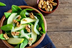J.J. Smith's Apple Walnut Spinach Salad: Get in your leafy greens and a sweet detox with this salad recipe!