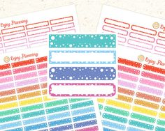 Printable Planner Stickers Printable Blank Planner Stickers MAMBI Stickers Erin Condren Planners Digital Download Stickers Rainbow stickers