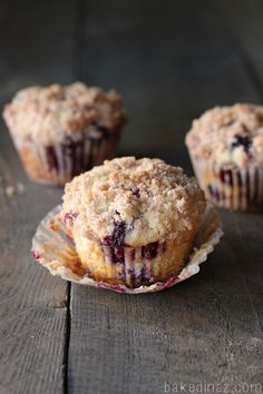 Lemon Blueberry Muffins - these are bursting with flavor!
