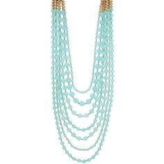 R.J. Graziano Pacific Coast Multi Strand Beaded Necklace ($30) ❤ liked on Polyvore featuring jewelry, necklaces, accessories, multiple chain necklace, multi-chain necklace, layered chain necklace, multiple strand beaded necklace and beaded jewelry
