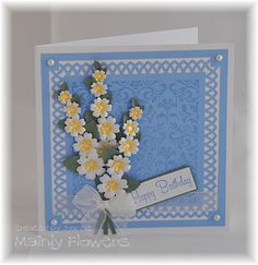 Mainly Flowers Independent Stampin Up! Demonstrator Joanne Gelnar: White and Yellow Birthday Bouquet