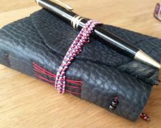 Pocket notebook Caramel leather notebook hand by BespokeBindery