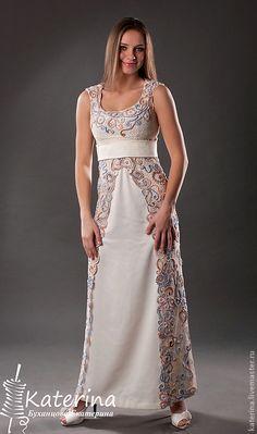 Precioso vestido combinado con crochet