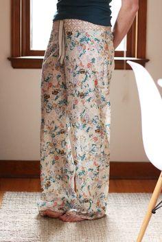 shirred voile pajama pants: DIY tutorial - Noodlehead