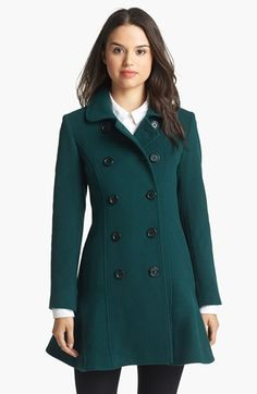 Helene Berman Fit & Flare Wool Blend Coat available at #Nordstrom