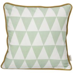 Little Geometry Cushion in Mint design by Ferm Living (860 EGP) ❤ liked on Polyvore featuring home, home decor, throw pillows, pillows, black white home decor, ferm living, black and white throw pillows, black and white accent pillows and black white throw pillows