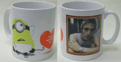 Add a photo to this minion themed mug, just Personalised Gifts, Minions, Mugs, Tableware, Personalized Gifts, Dinnerware, Customized Gifts, The Minions, Tumblers