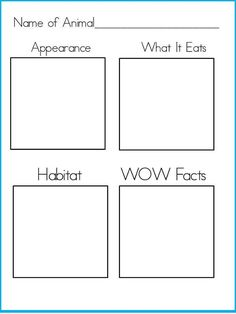 Freebie Animal Research Graphic Organizer  Teaching In Nd Grade