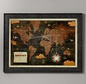 Les Aéroports Internationaux Map | Art | Restoration Hardware Baby & Child