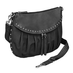 GTM-50 Studded Uptown Black Pleated Concealed Carry Purse  #GUNTOTENMAMAS…