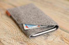 iPhone 6 cover Felt case iPhone case Card holder Father por ZAHRT