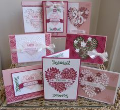 Bloomin Love & Bloomin Heart Stamp Class Instructions www.stampingmoments.blogspot.com