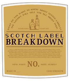How to Read a Scotch Label. -- www.spiritedgifts.com #happysipping