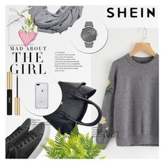 """Sheinside"" by anchystar90 ❤ liked on Polyvore featuring MANGO, BOSS Black, Kershaw and Yves Saint Laurent"