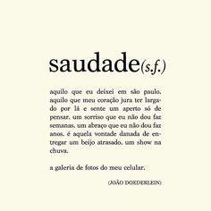 #saudade