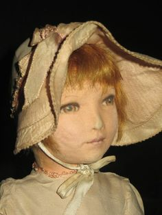 "ANTIQUE 1920s DEAN'S RAG BOOK CO 15"" CLOTH DOLL IN THE LENI STYLE CHILD DOLL VGC"