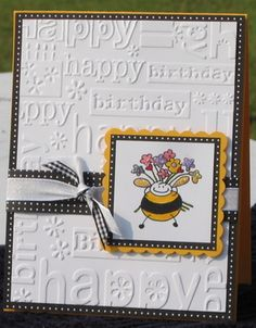 Colour on white... could use my ladybug stamp instead of the bee