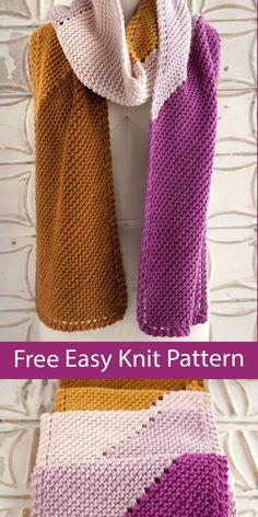Ladies Cardigan Knitting Patterns, Animal Knitting Patterns, Knit Patterns, Knit And Crochet Now, Quick Knits, Scarf Design, Garter Stitch, Free Knitting, Hooks