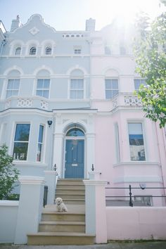 Pastel houses in Notting Hill, London