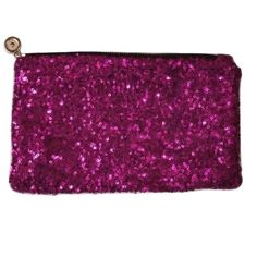Purple Sequenced Zip Up Clutch NWOT Super cute purple sequenced zip up clutch. Unknown brand Leopard print lining Small inside pocket with zipper Brand new never used. Bags Clutches & Wristlets