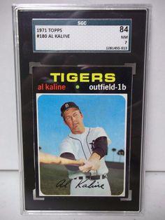 1971 Topps Al Kaline Graded NM 7 Baseball Card #180 MLB Collectible #DetroitTigers