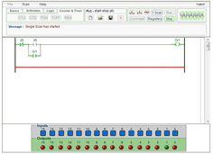 This online plc simulator free to publick is by plcsimulator.net (plcs.net)