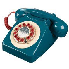 Blaues 746 Retro Telefon