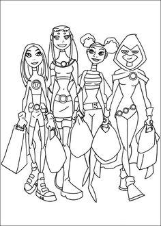 Desenhos para colorir Os Jovens Titãs 26