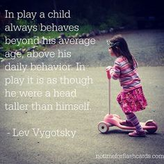 A favourite quote from Lev Vygotsky!
