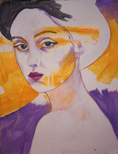 pret à porter Portrait  original painting by Richard by GallerySHG, $40.00