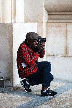 Paris Fashion Week: plaid. @Victor Mota Mota Mota Mota Mota Ng you can bring your NBs!