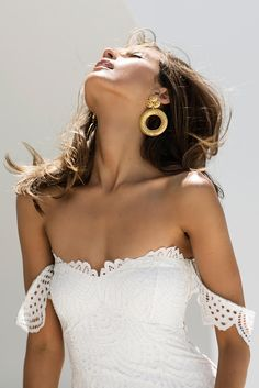 FOR THE DRESS || NOVELA BRIDE... Lace off the shoulder fitted wedding gown - the Paloma by Grace Loves Lace || Where the modern romantics play & plan the most stylish weddings... www.novelabride.com @novelabride #jointheclique
