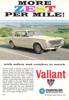 Vintage Advertisements, Vintage Ads, Vintage Posters, Australian Vintage, Australian Cars, Chrysler Valiant, Plymouth Valiant, Van Car, Chrysler Cars