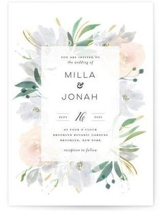 Grande Botanique Wedding Invitations #weddingdecoration #weddinginvitation