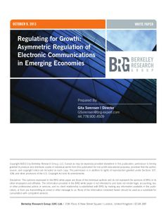 Regulating Electronic Communications for Growth in Emerging Economies