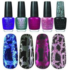 OPI's Shatter nail polishes look pretty awesome.