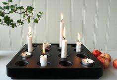Stumpaljusstaken i svart