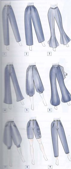 Types of pants - Best Fashions for All Dress Design Sketches, Fashion Design Sketchbook, Fashion Design Drawings, Fashion Sketches, Fashion Terms, Fashion Art, Fashion Drawing Dresses, Clothing Sketches, Fashion Vocabulary