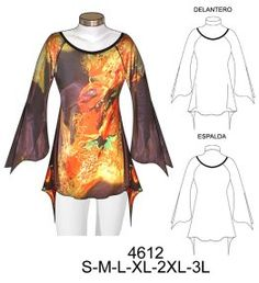 Photo only - no pattern, but I could adapt my simple Lekala raglan t-shirt pattern I think Plus Size Sewing, Dress Sewing Patterns, Fashion Sewing, Sewing Clothes, Fashion Sketches, Refashion, Nightwear, Plus Size Outfits, Womens Fashion