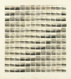 Artwork by Jan Dibbets, Panorama Bloemendaal, Made of one hundred and forty-four gelatin silver prints and graphite on paper