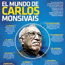 #UnDíaComoHoy de 1938, nació el escritor, periodista e intelectual mexicano, Carlos Monsiváis, en la #Infographic te dejamos algunos datos clave de su vida.