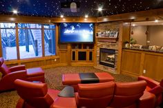 TV projector and retractable screen. #smarthome #home #technology